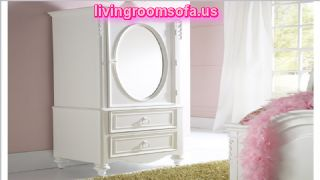 Mirror And White Cheap Style Wardrobe Armoires Designs