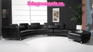 Modern And Black Contemporary Leather Sofas Italian