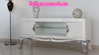 Modern And White Tv Stands For Livingroom