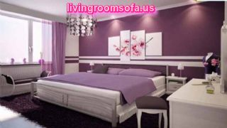 Modern Bedroom Purple Colors Design