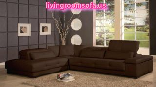 Modern Brown Affordable Contemporary Furniture For Living Room L Shaped