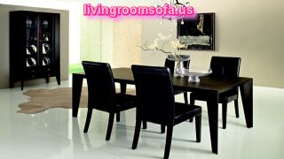 Modern Dining Room Table Black