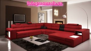 Modern Red And Useful Contemporary Sectional Sofas For Livingroom