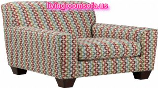 multi color accent arm chair