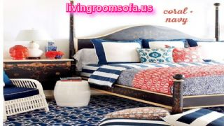 Navy And Coral Palette Design Ideas