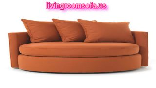 Orange Circle Swivel Chairs For Living Room