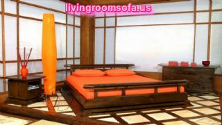 Orange Spacious Bedroom Decorating Ideas
