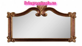 Ornate Wall Mirror With Antique Gold