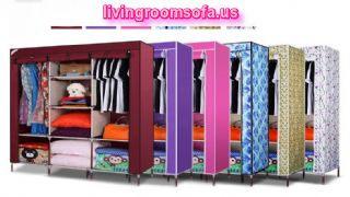 Oxford Cloth Tuba Steel And Cheap Style Wardrobe Armoires Designs