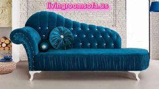 Parliament Aqua Velvet Chaise Lounge