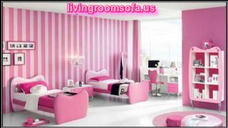 Pink And Modern Cool Twin Beds For Girls