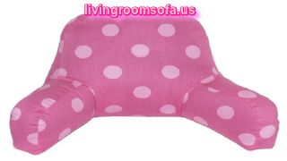 Pink Bed Rest Pillow With Arms