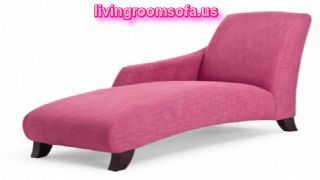 Pink Chaise Lounge Chairs For Fashionable Girl Bedroom