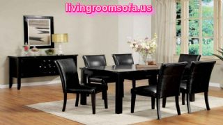 Portland Casual Black Dining Room Decoration Set