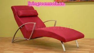 Red Contemporary Chaise