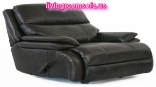 Black Leather Retro Living Room Idea Chair