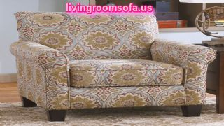 Roll Arm Accent Chair With Antique Fabric Pattern