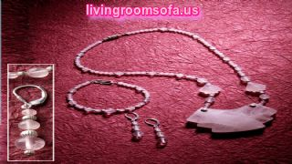 Rose Quartz Angular Accents With Bracelet