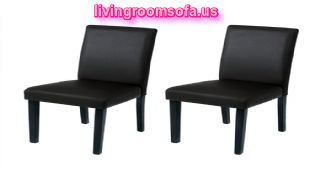 Simple Black Leather Chaises Design Ideas