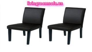 Simple Black Leather Chaises Design Ideas