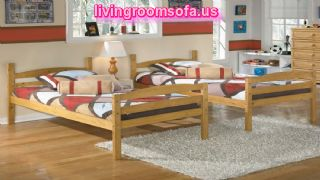 Solid Pine 2 Twin Beds Concept