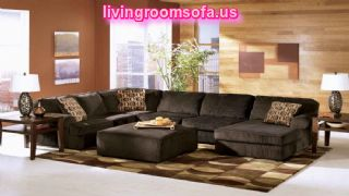 U Shaped Black Sectional For Living Room Design