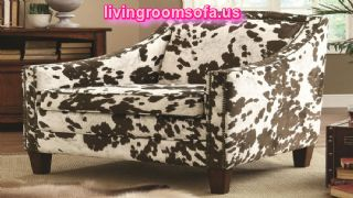 Unique And Traditional Cow Pattern Accent Arm Chair