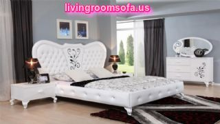 White And Beautiful Cheap Bedroom Furniture Design Ideas