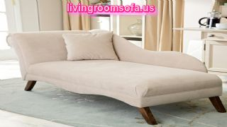 White And Modern Contemporary Chaise