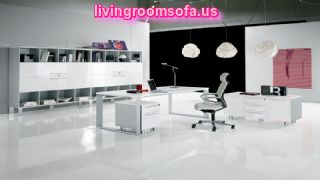 White And Modern Style Contemporary Italian Office Furniture