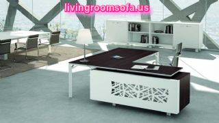 White Modern Contemporary Italian Office Furniture