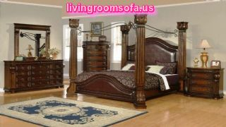 Wooden Classic Bedroom Bed Set Queen
