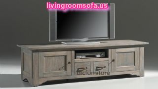 Wooden Classic Tv Stand Cabinet In Room