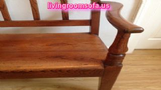 Wooden Oak Antique Bench Design