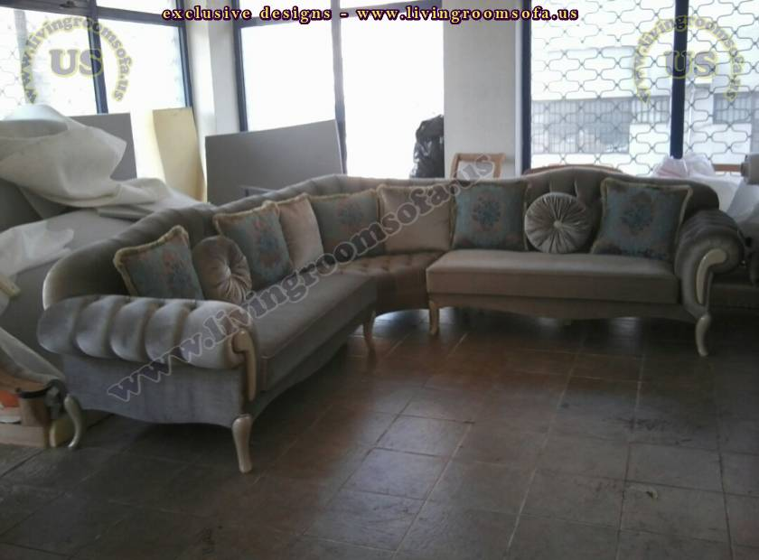 Avant Garde L Shaped Sofa Design For Living Room