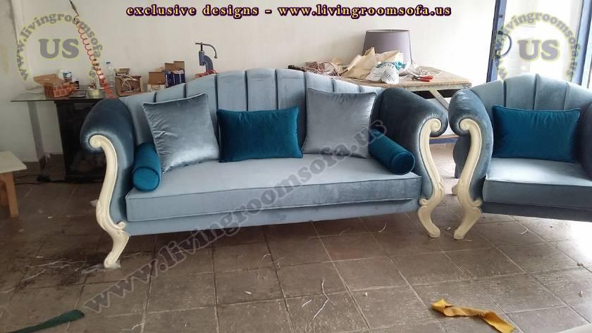 Blue Velvet Avant Garde Sofa Design