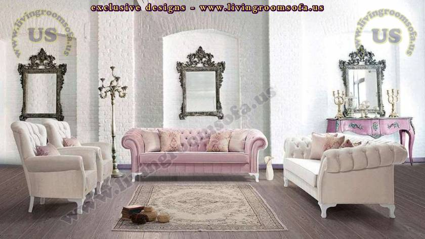 Manchester Chesterfield Sofa Set Exclusive Living Room Design