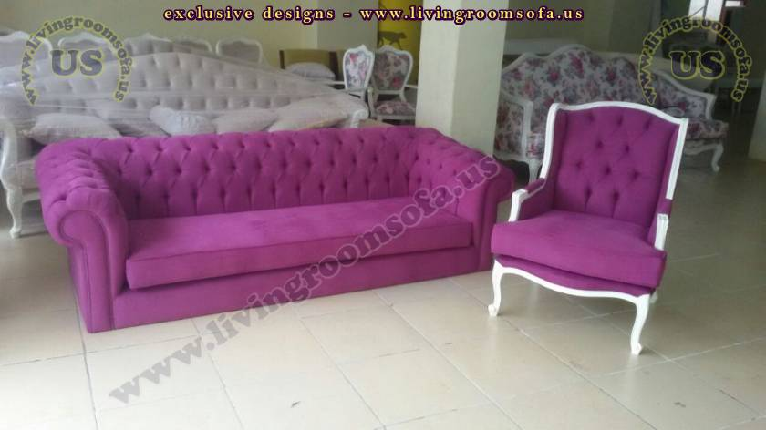 Purple Chesterfield Sofa And Bergere Beautiful Designs