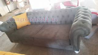 Nubuck Black Chesterfield Sofa Design