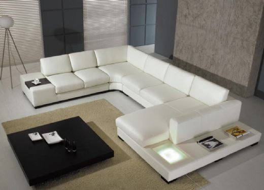 Sectional Leather Sofa Livingroom Sofa, Modern Livingroom Sofa Leather
