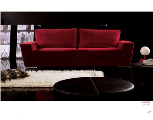 Red Sofa Red Modern Sofa, Fabric