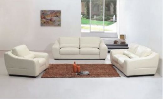 Leather Modern Sofa, White Modern Sofa