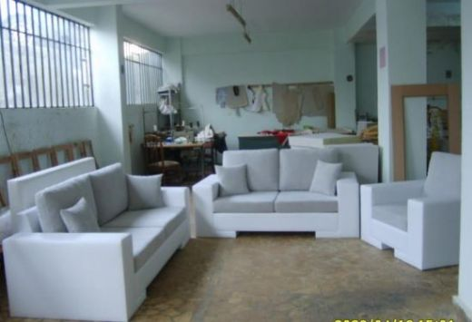 Modern Sofa, White-Gray Modern Sofa Set, Livingroom Sofa