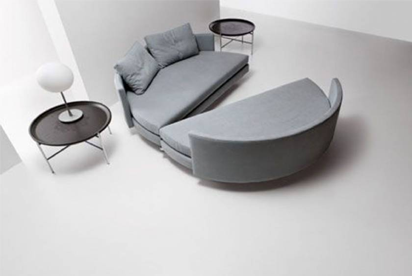 Amazing Modern Style Sleeper Sofa Beds Rounded Design