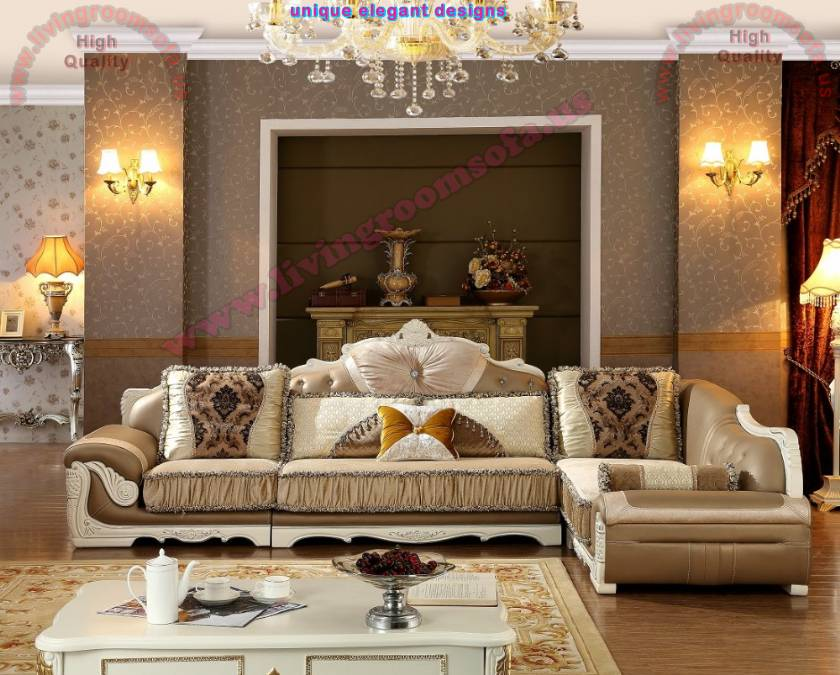 Art Deco Living Room design large living room