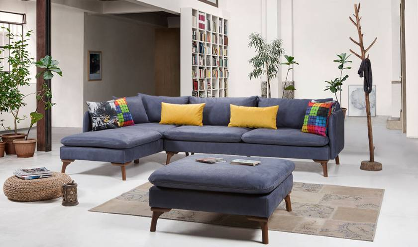 Austin Modern Corner Sofa Small size small spaces modern living room