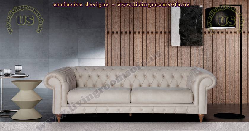 beige leather chesterfield sofa