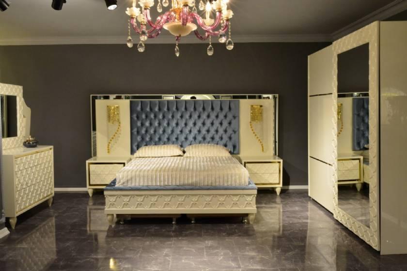 Beige Modern Luxury Bedroom Furniture Unique Designs