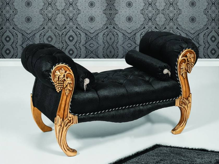black luxury bench chair luxury bedroom designs
