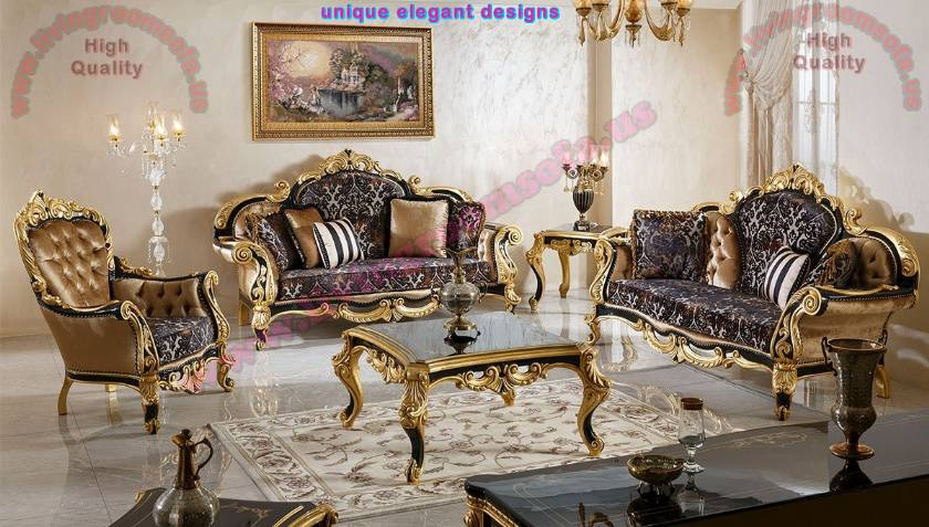 Cheapest Classical Carved Living Room Sofa Sets
